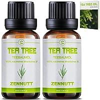 2 PACK Teebaumöl 100% Teebaum Öl Ätherische Öle Bio Naturrein Set für Shampoo Körper,Duft-Sets für Damen,Akne Öl,Acne Serum,Anti Pickel,Schuppen und Mitesser,Diffuser Massage Essential Tea Tree Oil