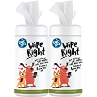 Captain Zack Wipe Right Anti-Bacterial Wet Wipes for Dogs & Cats - Natural Extracts/Actives - Paraben Free & Vegan…