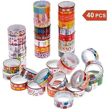 Faburo 40 rouleaux Washi Tape Ruban Adhésif Décoratif Masking tape pour Scrapbooking Bricolage Arts Artisanat Fournitures de Bureau