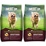 Meat Up 100% Veg Adult Dog Food, 3kg (Buy 1 Get 1 Free)