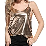 Sunbona Bralette Women's Tank Top Ladies Shiny Liquid Wet Look Vest Top Camisole For Club Blouse Tanks Bralette