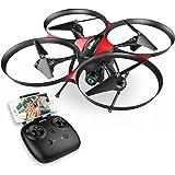 DROCON Anfänger Quadcopter Drohne mit Optischem Bildstabilisator HD FPV Kamera 1280 x 720P UDI U818PLUS Höhenkontrolle, Taste zum Starten und Landen, samt 4GB TF Speicherkarte