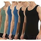 YouShow Camiseta de Tirantes para Hombre Pack de 5 de Algodón 100% más Colores