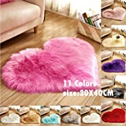 PinShang Soft Artificial Plush Rug Chair Cover Warm Hairy Carpet Seat Pad Modern Style Home Decoration