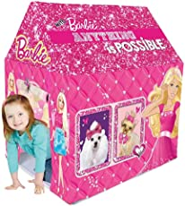 Gencliq Barbie Kids Play Tent House - Multi Color