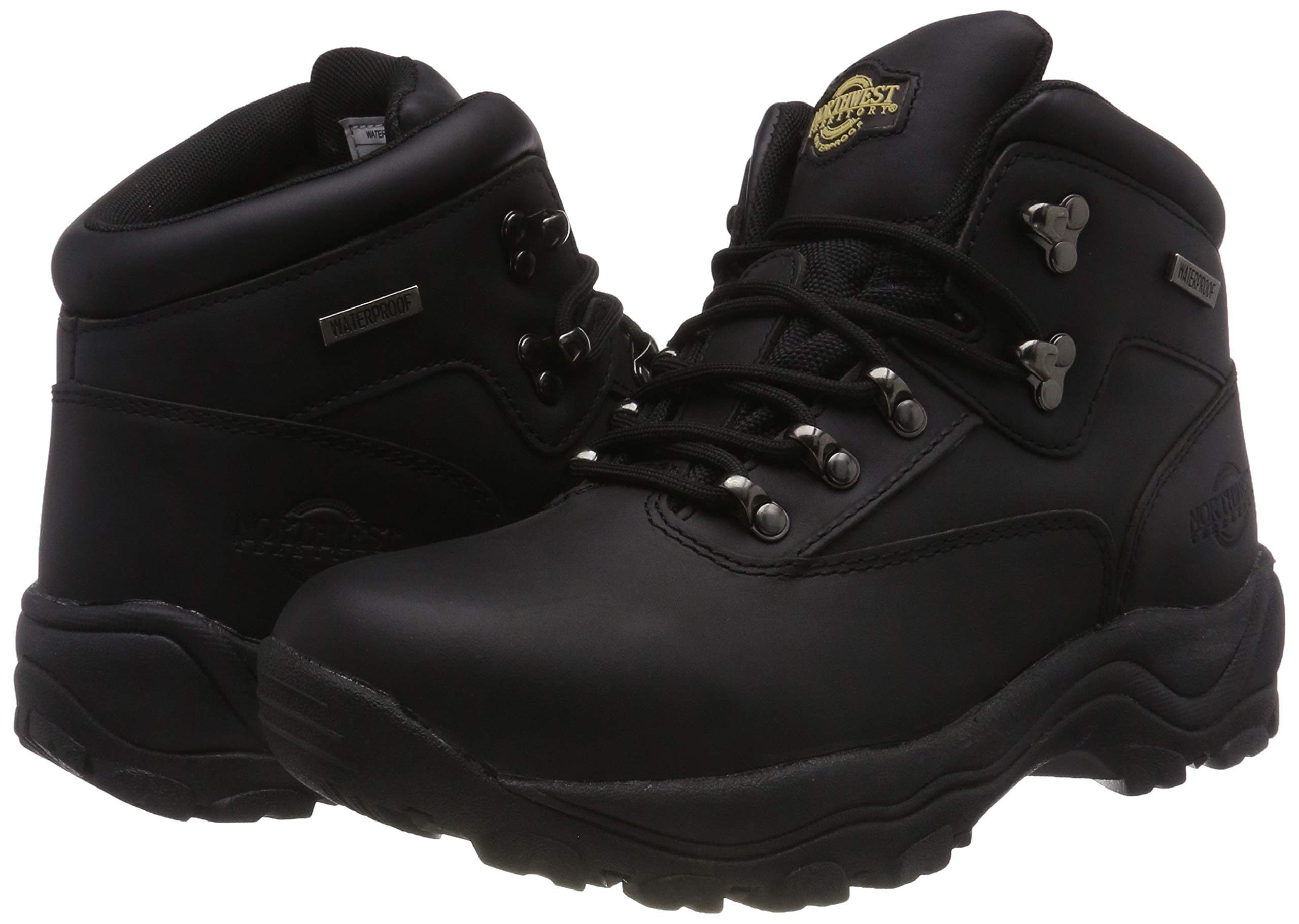 Northwest Men Hiking Walking Trail Boots Leather Waterproof Ankle High Rise Shoe 5