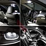 cciyu 12x Full Set Replacement for Honda Accord 2013-2016 White LED Interior Package kit