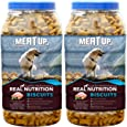 Meat Up Mutton Flavour , Real Chicken Biscuit, 500g ( Buy 1 Get 1 Free)