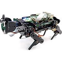 Freenove Robot Chien Kit pour Raspberry Pi 4 B 3 B + B A +, Marche, Auto-Équilibrage, Traçage de Balle, Reconnaissance…