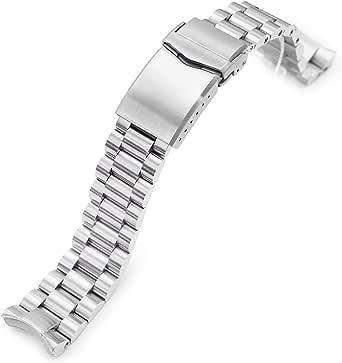 MiLTAT - Fresa per orologio da polso compatibile con Seiko Mini Turtles srpc35, con estremità ricurva massiccia