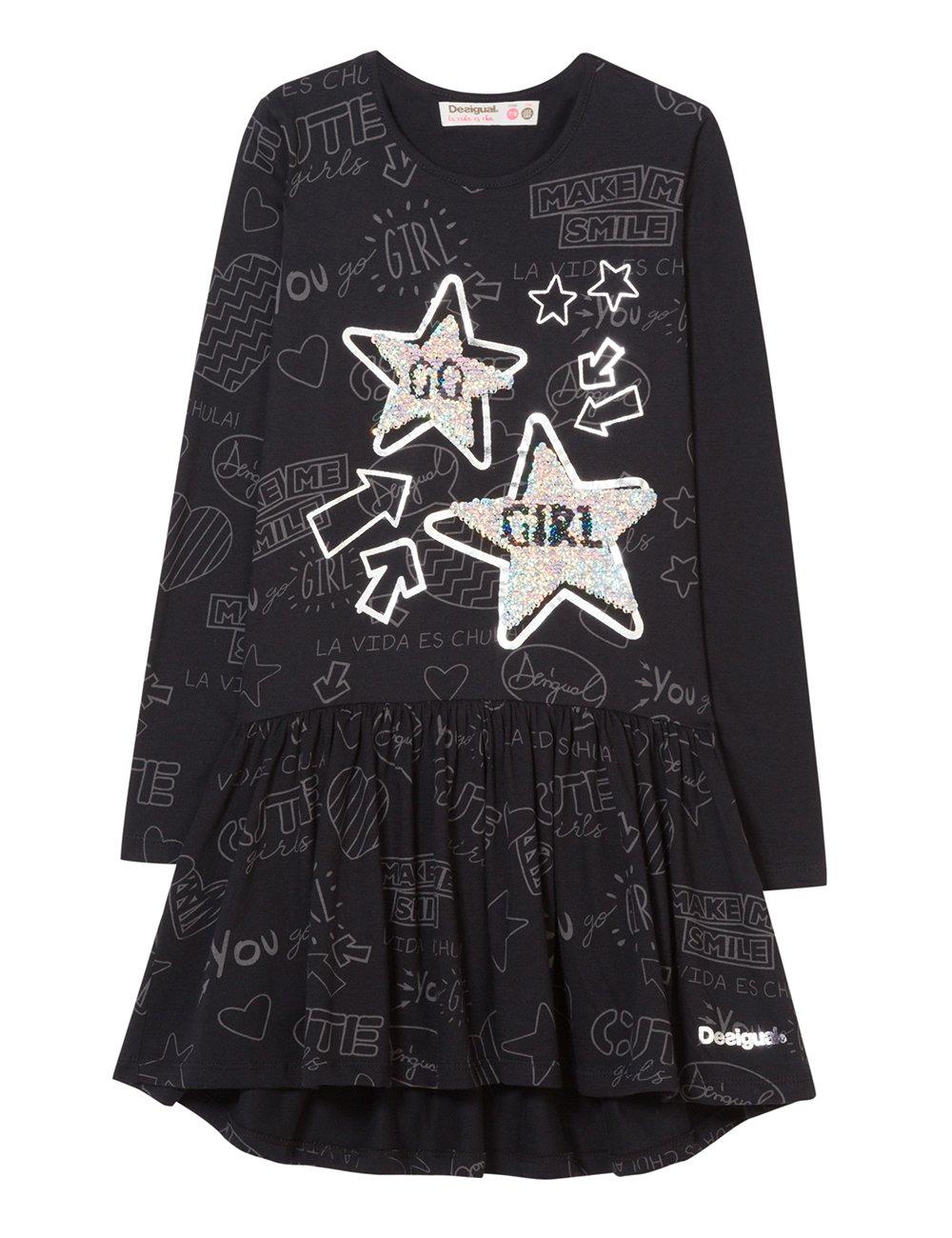 Desigual Vest_Star Vestido para Niñas