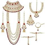 I Jewels Traditional Ethnic Indian Kundan Dulhan Bridal Jewellery Set for Women