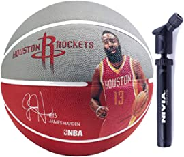 Spalding Basketball James Harden Combo (Spalding NBA Player James Harden Basketball, Size 7 + Niva Double Action Ball Pump)