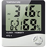 Aptechdeals Htc-1 Digital Hygrometer Thermometer Humidity Meter With Clock Lcd Display