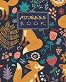 Address Book: Floral Cover address book for names, addresses, phone numbers, emails and birthdays Alphabetical Organizer…