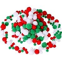 Sumind 300 Pièces Pom Poms Assortiment Boules Pom Moelleux Pompons Pompoms Petite Artisanat pour DIY et Décorations, 3…