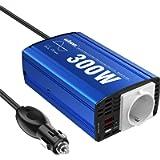 GIANDEL 300W Onda Sinusoidale Pura Inverter da Auto 12V a 220V-230V,Convertitore di Potenza per Camper con 2 Porte USB e…