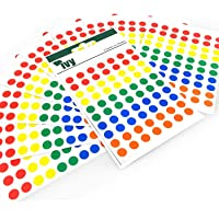 700 Sticky Coloured Dots - 8mm - Easy Peel Self Adhesive Colour Coding Sticky Dots - Assorted Colours - Ivy Stationery