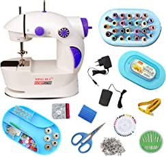 Regrid Rgd-cmb07 4In1 Portable & Compact Electric Sewing Machine,White & Purple