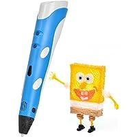 YESTECH 3D Stylo pen Imprimante à Peindre Impression Stéréoscopic Printing Pen avec ABS Filament Multi-couleur Pour Artisanat 3D Enfant ,Cadeaux de Noël(Bleu)