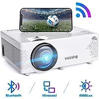 VicTsing Vidéoprojecteur WiFi 720P avec Fonction de Bluetooth et Synchronisation d'écran, Projecteur Portable Hi-FI Stéréo Sonore, Compatible avec la clé TV, PC, HDMI/VGA/SD/AV/USB 【Version Nouvelle】