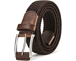 Belt Men Stretch,BULLIANT Mens Woven Stretch Braided Belt 1 3/8