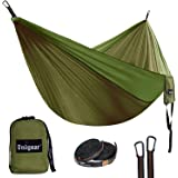 Unigear ultralichte hangmat, 320x200cm campinghangmat 2 personen 300kg belasting, ultralichte reishangmat met 1 paar ophangse