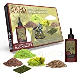 The Army Painter – Battlefields Basing Set | Grundläggande | Landskap | Inklusive gratis lim och instruktioner för krigsspel,