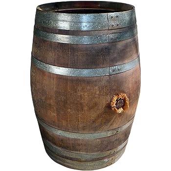 Latest Regentonne Regenfass Holzfass Weinfass Fass Tonne Bottich Barrique Aus Eiche Liter With Selber Bauen