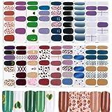 FLOFIA 16 vellen nagelstickers, zelfklevende nagelfolie, nagelstickers, nagelkunst, tatoeages, nagelstickers