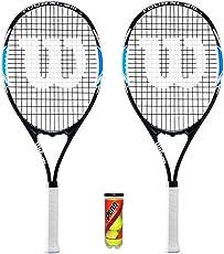 Wilson Tour Slam x 2 Tennisschlägers mit 3 Tennisbälle (Verschiedene Optionen)