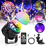infinitoo Disco Lights LED Black Lights 3 Modes Music Activated Party Lights Disco Ball Lights with Remote USB Mood Light For