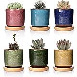 T4U 6,3 cm keramisk is spricka Zisha upphöjd seriell suckulent växtkruka/kaktus planterings kruka blomkruka/behållare/planter