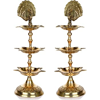 Buy Crispy Deals Mini Regional Brass Diya Kuthu Vilakku