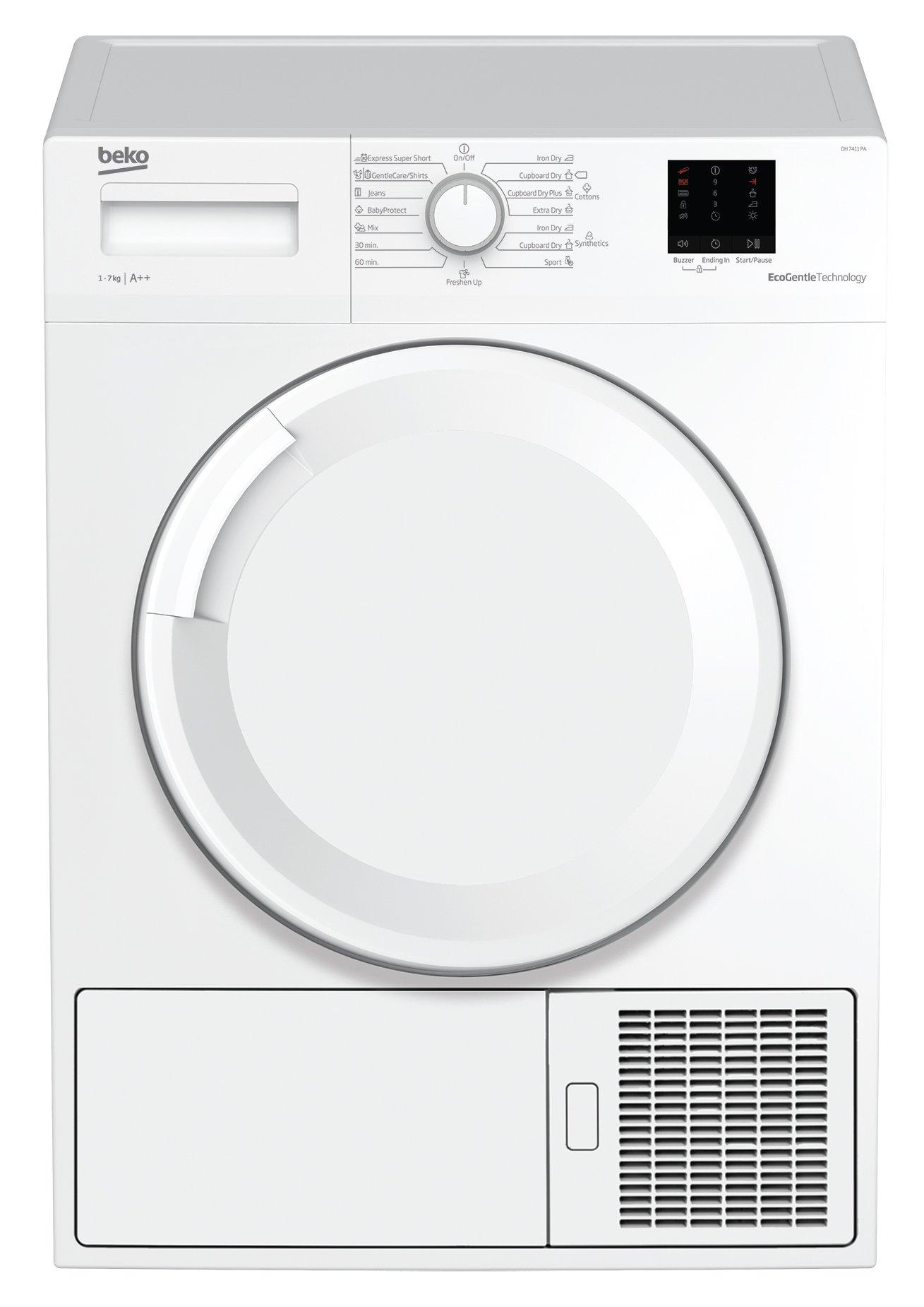 Beko DS7511PA Wärmepumpentrockner, Kondenstrockner, 7 kg, Knitterschutz, FlexySense