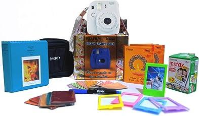 Fujifilm Instax Mini 9 Festive Pack Instant Camera (Smokey White)