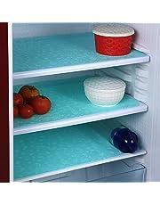 Unique Productions PVC Refrigerator Drawer/Fridge/Multipurpose Mat (12 X 17 Inches, Sea Green) - Set of 6 Pieces