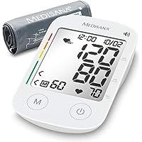 Medisana BU 535 voice Oberarm-Blutdruckmessgerät ohne Kabel, Arrhythmie-Anzeige, WHO-Ampel-Farbskala, für präzise Blutdruckmessung und Pulsmessung mit Speicherfunktion und Sprachausgabe