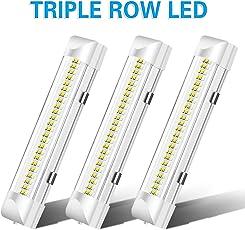 AMBOTHER LED Innenbeleuchtung, 3x72 LEDs Innenraumbeleuchtung Auto DC 12V LED Innenleuchte Universal RV Leuchtstofflampe für Fahrzeuginnenraum LKW KFZ Wohnwagen (3 * 72LED)