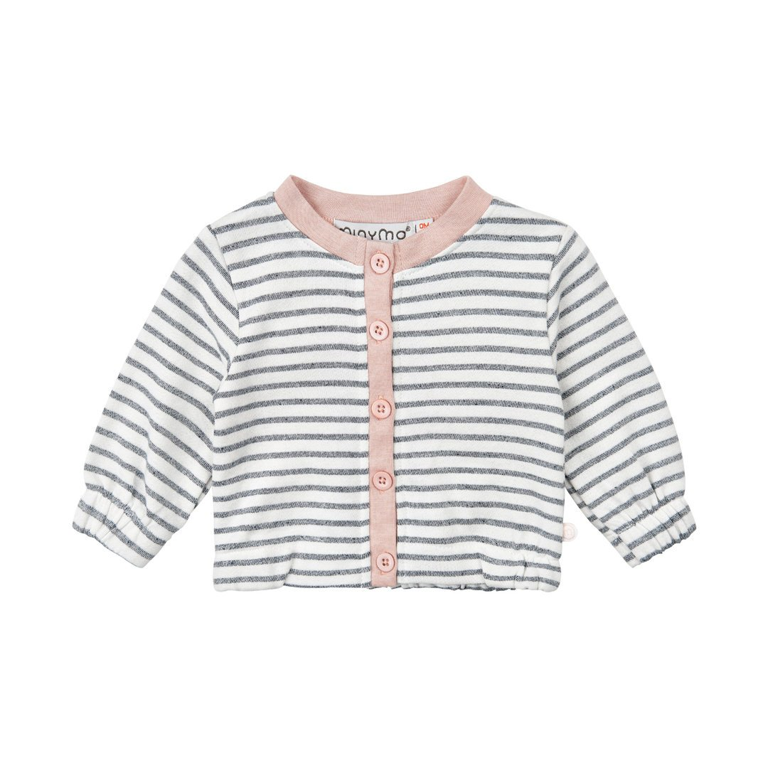 Minymo Giacca Baby in estate Weather con strisce rosa Rose 74