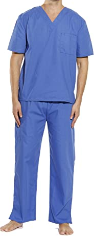Tropi Mens Unisex Scrub Sets Medical Scrubs (V-Neck)