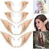 4 paia di orecchie da elfo in lattice, utilizzate per elfi, vampiri, costumi a punta, accessori per feste, accessori per fest