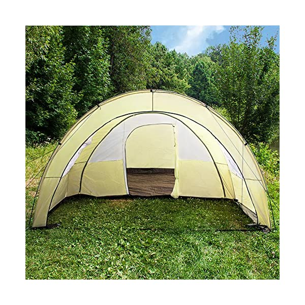 TecTake 800588 XXL Camping Tunnel Tent with Foyer 4-6 persons 7