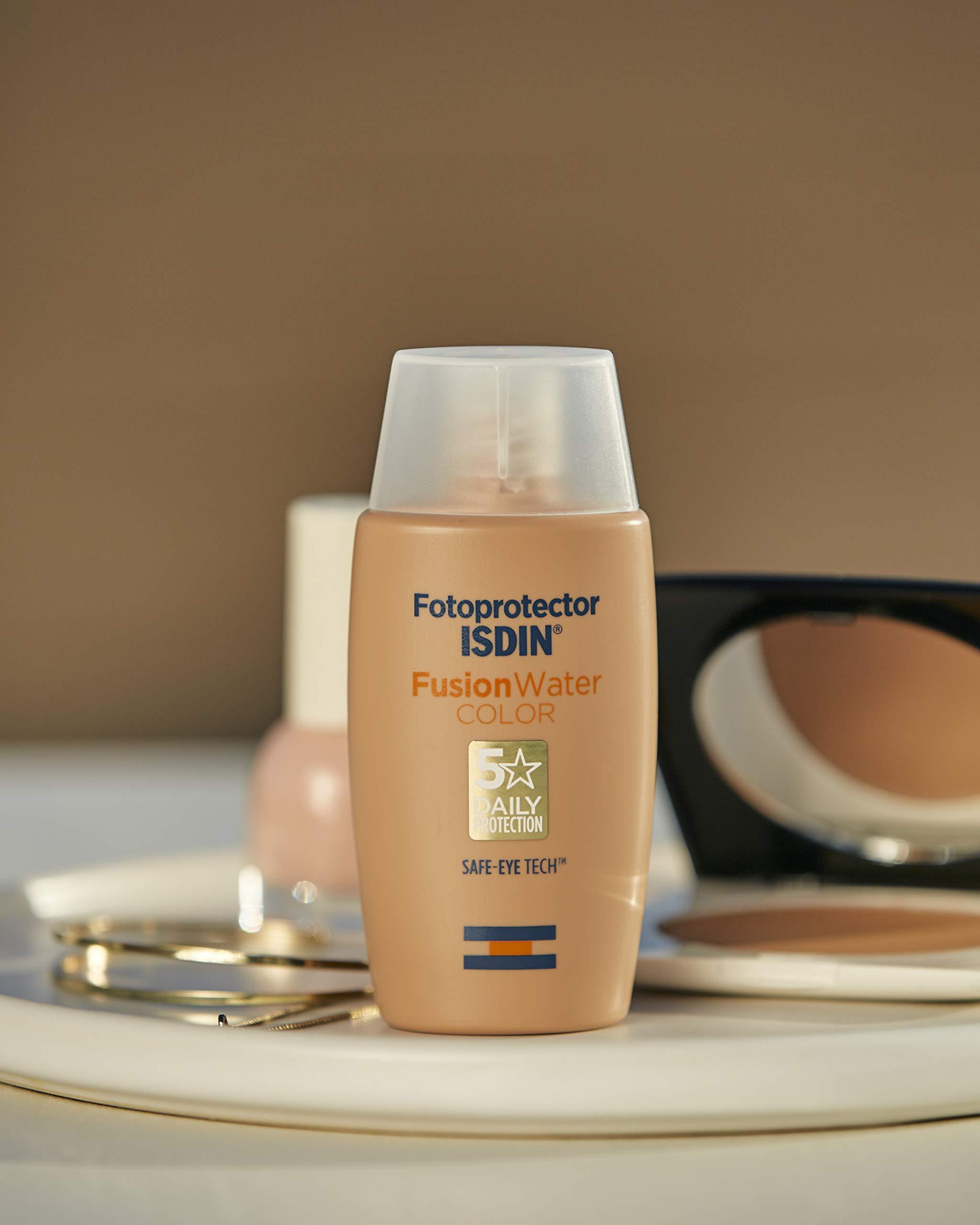 Isdin Fotoprotector Fusion Water COLOR SPF 50 – Protector solar facial de fase acuosa con color para uso diario…
