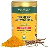 VAHDAM - Turmeric + Ashwagandha Herbal Tea | 100 gm /40 Cups of Ginger & Ashwagandha Immunity Tea | Certified USDA Organic As