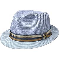 Stetson Cappello di Paglia Licano Toyo Trilby Uomo - Cappelli da Spiaggia Sole con Nastro in Grosgrain Primavera/Estate