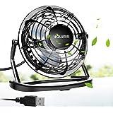 VGUARD Mini Ventilateur USB Fan, 360 Degrés Rotation, Portable de 4 Pouces, Silencieux Ventilateur de Bureau/Table pour Table