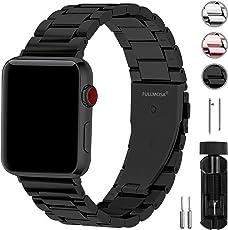Fullmosa Kompatibel Apple Watch Armband 42mm(44mmSeries4), Rostfreier Edelstahl Watch Ersatzband für iWatch/Apple Watch Series4/3/2/1, 42mm(44mm) Schwarz