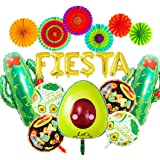 JeVenis Ensemble de 14 Décoration de fête mexicaine Décoration de fête Fiesta Ballons de Fiesta Ballons de Cactus