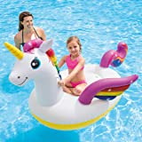 Inflatable Unicorn Pool Float, Ride On Blow Up Summer Beach Swimming Pool Party, Toys for Kids Adults
